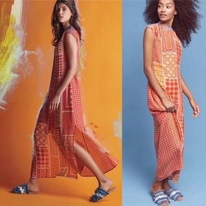 Anthro Patchworked Soll Dress Maxi By Tanvi Kedia